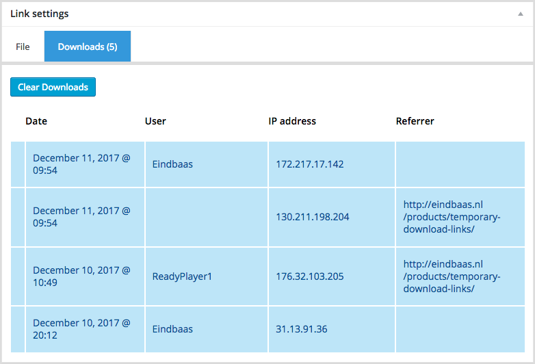 Temporary Download Links for WordPress - 4